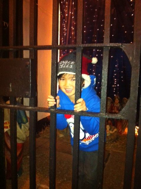 Alfie Doyle (6) at Wicklow Gaol yesterday.