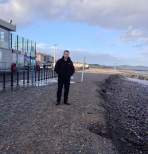 Erosion of coastal defences