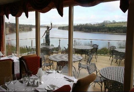 The view over the lake from Il Lago Restaurant.