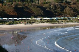 Jack's Hole Beach Resort has 71 mobile homes and a private beach.