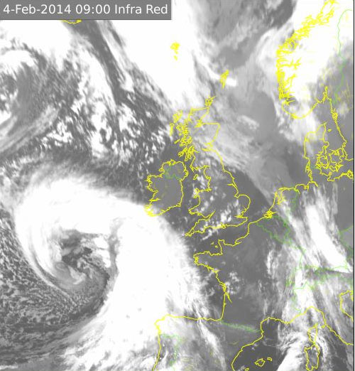 An Atlantic storm depression will hit Ireland later today