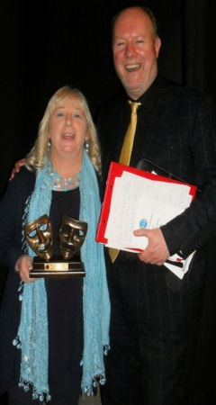 Theresa  Sheekey won Runner Up Actress at the recent Drama Festival in Glenealy. The adjudicator Pat Nolan described her as a young Maureen Potter.