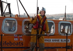 TV3's Claire Solan  on board Wicklow RNLI.