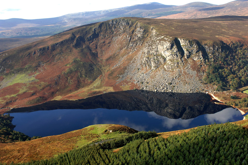 Situated between Djouce and Luggala lies the scenic lake of Lough Tay