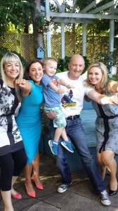 Gavin and his parents with TV3 presenters pic TV3