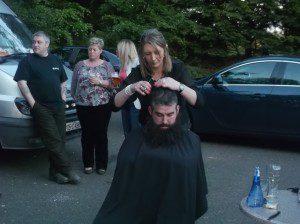 Barber Anita Keogh gets to work