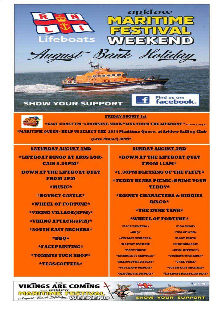 Arklow RNLI Maritime Fest 2014 Brochure