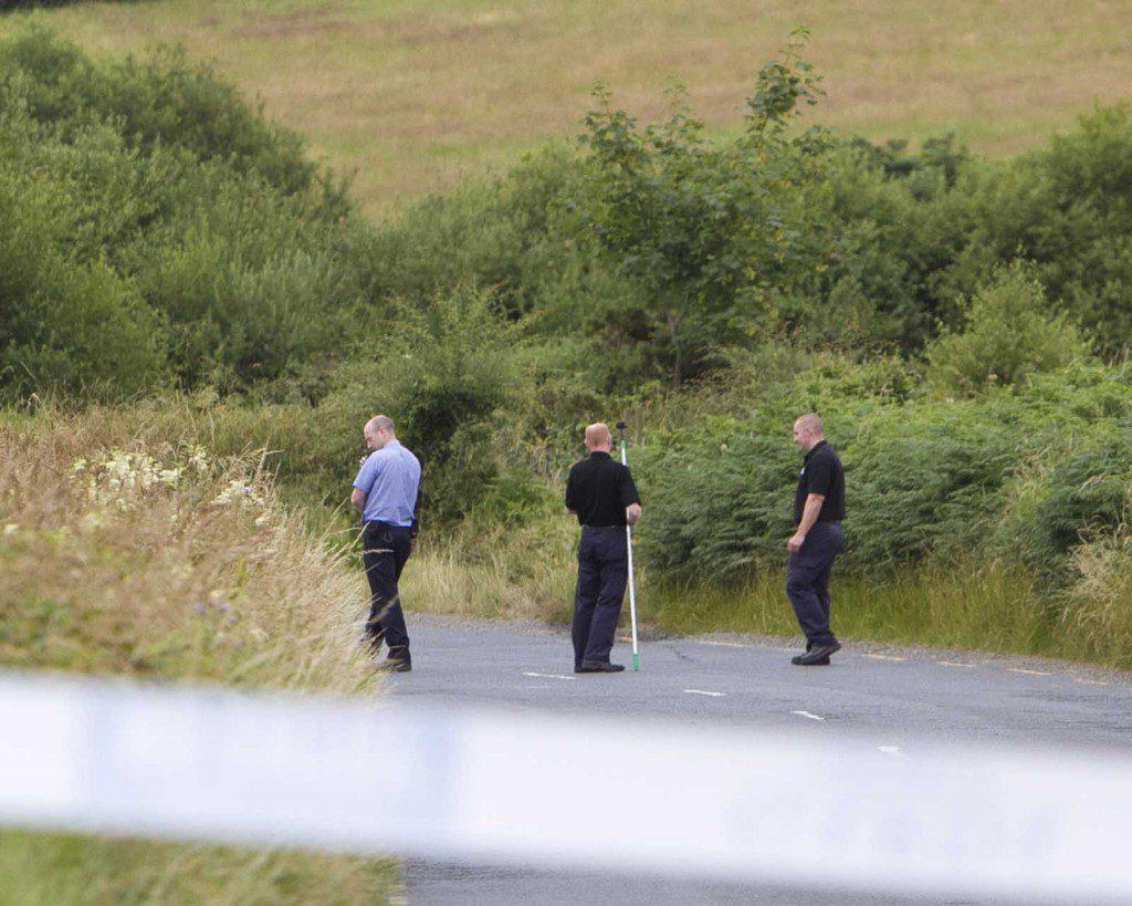 Garda forensics at the scene