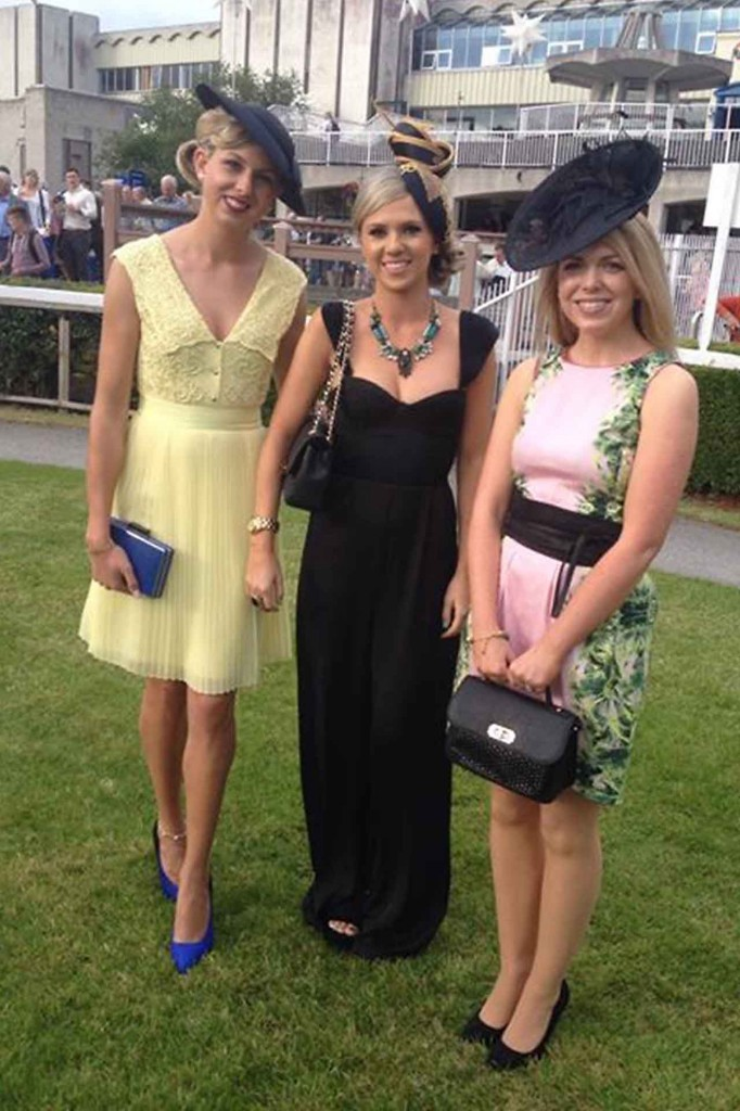 Niamh pictured on the left with her winning outfit