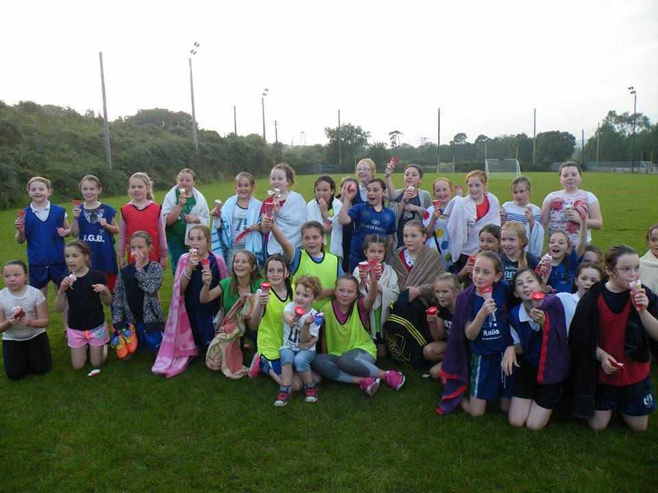 U10 Girls at their fun training session