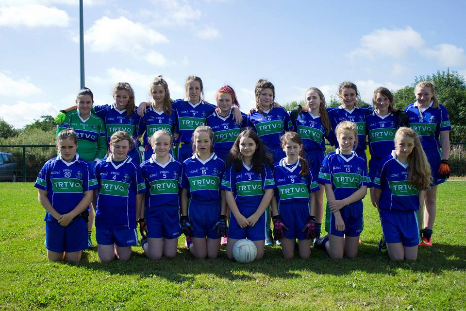 AGB U14 Girls who played in B Championship against Valleymount.