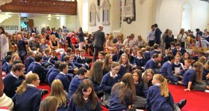 First year students of Temple Carrig School in St Patrick's Church.