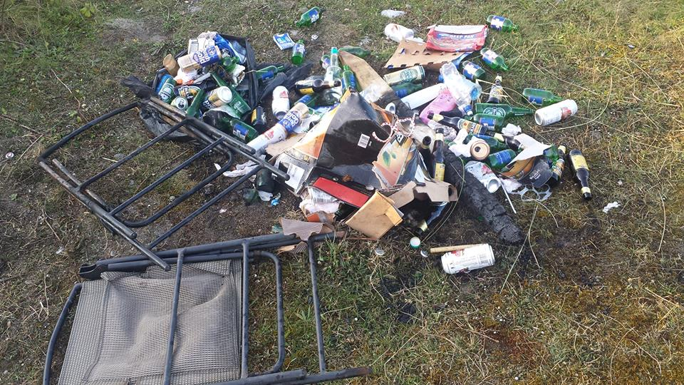 The litter which was left behind at Kiloughter beach