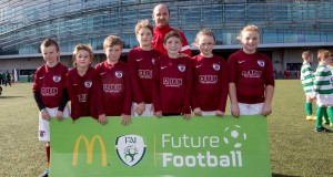 Ardmore Rovers U9 team pictured at the McDonald's FAI Future Football Finals Day at Aviva Stadium