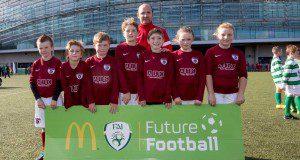 Ardmore Rovers U9 team pictured at the McDonald's FAI Future Football Finals Day at Aviva Stadium