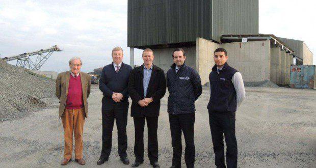 Dermot McKeown, Cllr. Pat Casey,  Cllr. Chris Fox, David McKeown , Keith Rossiter on site in Ballinclare