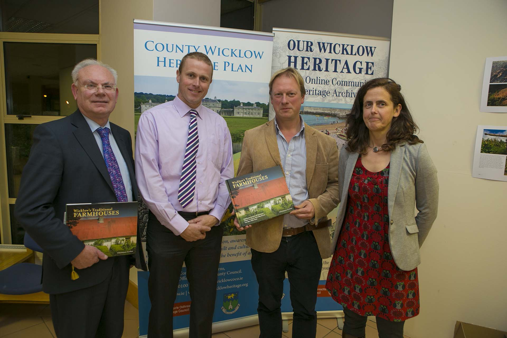 County manager Eddie Sheehy, County Chairman Christopher Fox and heritage Officer Deirdre Burns with Author Chris Corlett