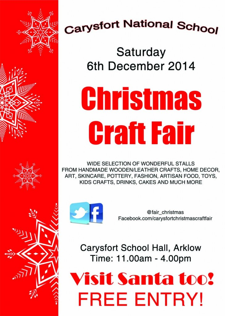 Final Red craft fair poster_ Carysfort xmas craft fair poster 2014 FINAL VERSION