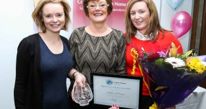 Julie Roberts, Regional Manager. Siobhán O'Connor, Regional Winner and Bríd Gould, Managing Director of Comfort Keepers.