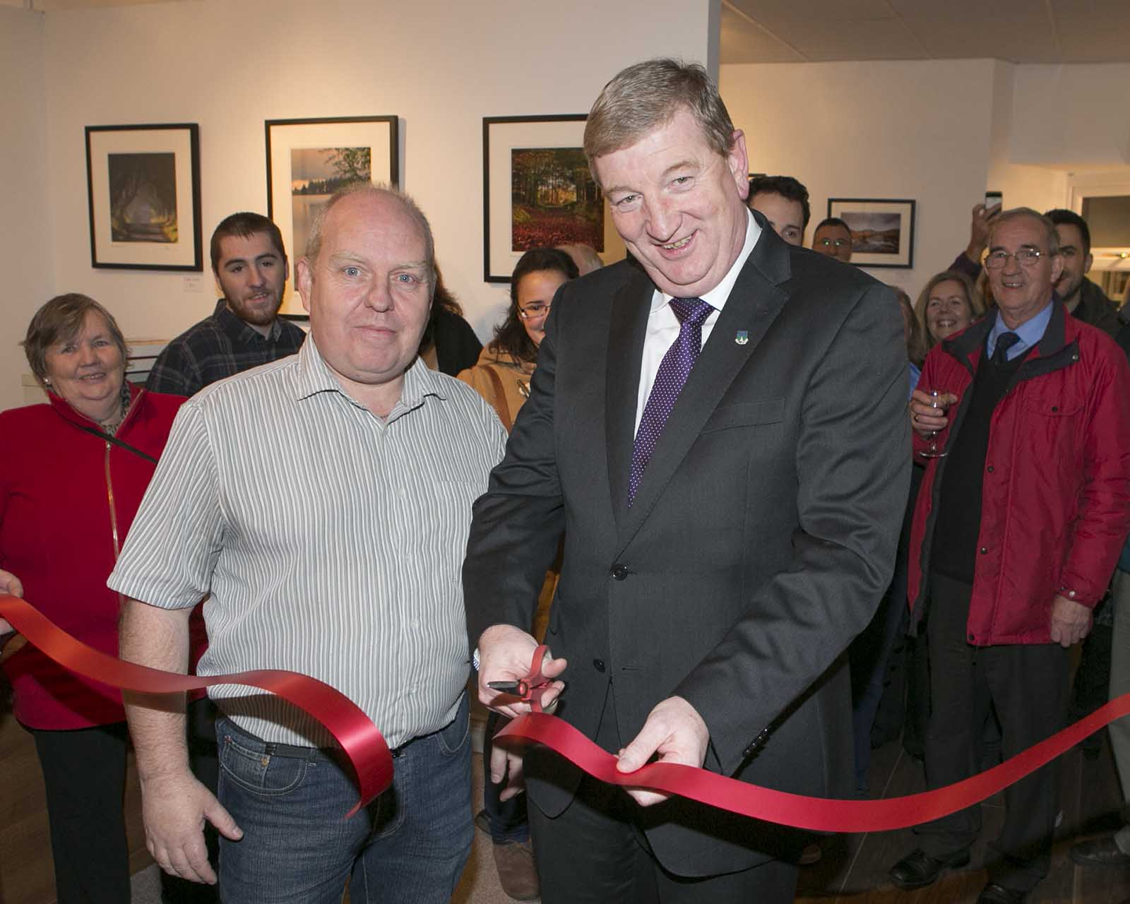 Patrick Casey officially opens the Fran Byrne Gallery in Roundwood