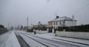 Snow in Ballygannon this morning (Pic Chris Bolton)