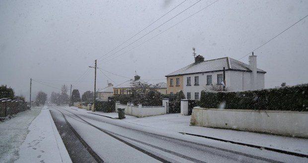 Snow in Ballygannon this morning (Pic Chris Bolton)
