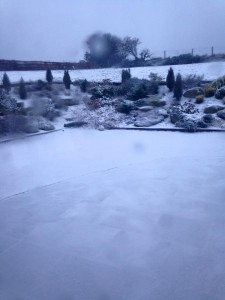 A snowy start in Glencullen this morning (pic Rachael O'Brien)