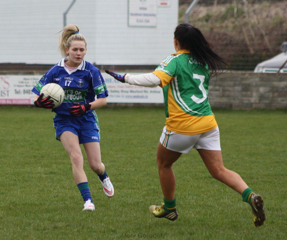 AGB's Chloe O'Reilly advancing on Clara goal