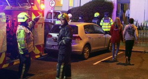 Bray fire service tend a scene on the Strand Road in Bray 11/4/15