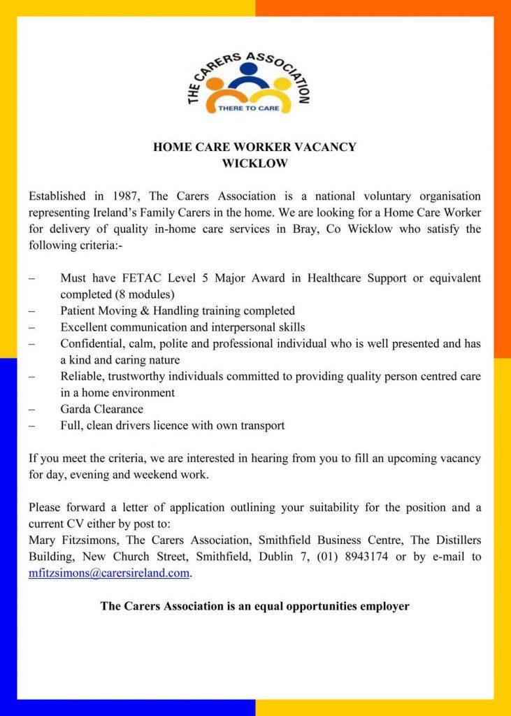 HOME CARE WORKER VACANCY