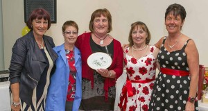 Claire Flannery, Margaret Byrne(916), Frances Doyle, Bernie Burke and Breda Walsh at the Noritake and Pottery Reunion in the Arklow Bay Hotel