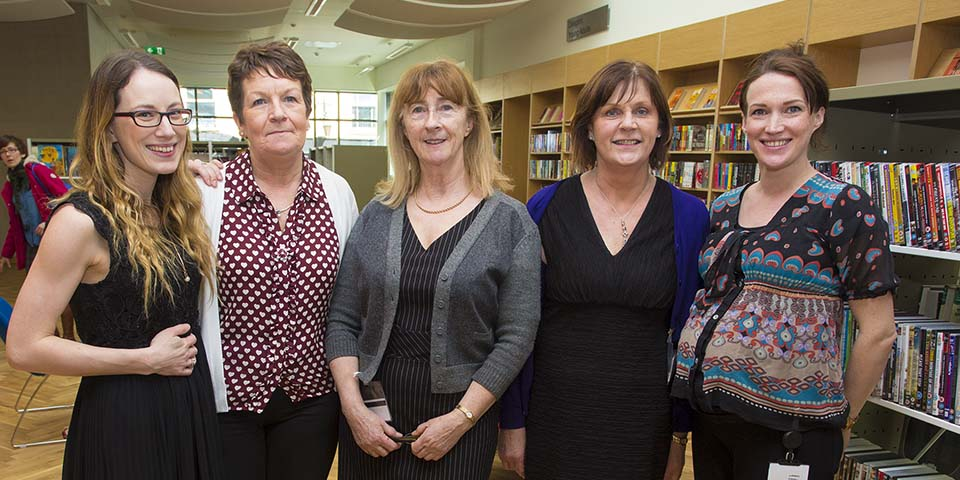 Arklow Library staff Laura Sinnott, Aine McGovern, Claire Fulham, Anne Shannon and Treasa O'Brien (Pic.Michael Kelly)